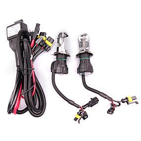 abordables Nouvelles arrivées en août-2pcs 55w h4 caché bi-xénon salut / bas kit de conversion d'ampoules de phares 3000-12000k kit typetype une ampoule * 2 ballast * 2 température de couleur 8000k / 10000k