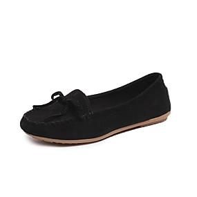 voordelige Damesschoenen met platte hak-Dames Platte schoenen Platte hak Katoen Lente & Herfst Zwart / Geel / Bordeaux