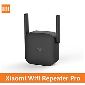 voordelige Mobiele signaalversterkers-Xiaomi wifi router pro 300 m mijia mi versterker netwerk expander repeater power extender roteador 2 antenne voor router wi-fi