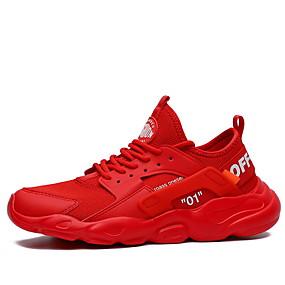 baratos Sapatos Esportivos Masculinos-Homens Sapatos Confortáveis Couro Envernizado Verão Tênis Corrida Preto / Branco / Vermelho