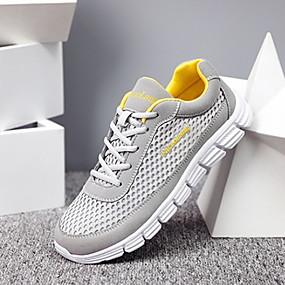 baratos Sapatos Esportivos Masculinos-Homens Sapatos Confortáveis Com Transparência Outono Tênis Preto / Azul / Cinzento