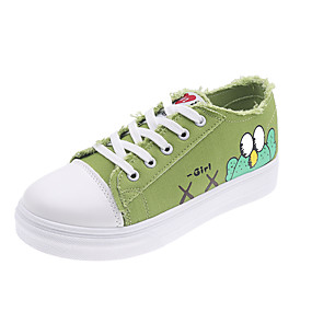 voordelige Damessneakers-Dames Sneakers Platte hak Ronde Teen Canvas Vintage / Studentikoos Herfst / Lente zomer Zwart / Wit / Groen