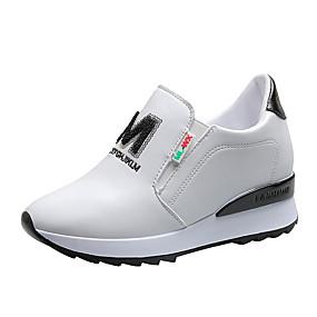 voordelige Damessneakers-Dames Sneakers Creepers PU Klassiek / minimalisme Lente zomer / Herfst winter Zwart / Wit / Rood / Feesten & Uitgaan / leuze