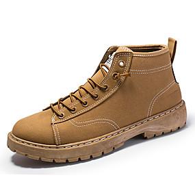 Недорогие Мужские ботинки-Муж. Армейские ботинки Полотно Весна / Осень На каждый день Ботинки Для прогулок Нескользкий Черный / Коричневый