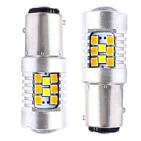 billige Nyankomne i oktober-2stk t20 (7440 7443) / 3157/1157 bilpærer smd 3030 28 led blinklys / bremselys / baklys (baklys) for universal alle år