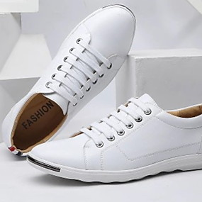 baratos Tênis Masculino-Homens Sapatos Confortáveis Pele Verão Tênis Respirável Preto / Branco / Amarelo