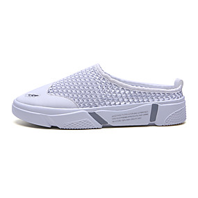 baratos Tamancos Masculinos-Homens Sapatos Confortáveis Com Transparência Verão Casual Tamancos e Mules Preto / Branco / Cinzento