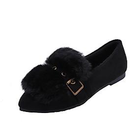 voordelige Damesschoenen met platte hak-Dames Platte schoenen Lage hak Gepuntte Teen Gesp Synthetisch Zoet Wandelen Herfst / Winter Zwart / Geel / Khaki