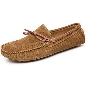 voordelige Damesinstappers & loafers-Dames Loafers & Slip-Ons Platte hak Ronde Teen Varkensleer Zomer Zwart / Bruin / Groen
