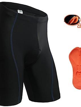 ieftine Sport i aktivnosti na otvorenom-Jaggad Bărbați Pentru femei Pantaloni Scurți cu Burete Bicicletă Pantaloni scurți Pantaloni Scurți Padded Pantaloni Respirabil Uscare rapidă Înapoi de buzunar Sport Culoare solidă Elastan Negru