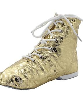 billige Bryllup & Eventer-Dame Dansesko PU Jazz-sko Støvler / Splitt såle Sølv / Gull / EU43