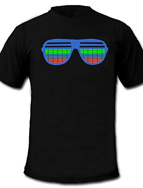 tanie Kostiumy karnawałowe-T-shirty LED Lampy LED aktywowane dźwiękiem Tekstylny Kreskówki 2 akumulatory AAA