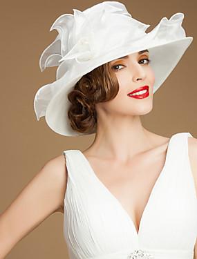 olcso Esküvők & események-Organza Kentucky Derby Hat / Kalap val vel Pántlika / szalag 1 Esküvő / Különleges alkalom / Hétköznapi Sisak