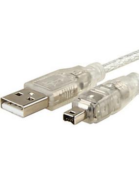 رخيصةأون اكسسوارات الصوت والفيديو-USB الذكور إلى فايرواير IEEE 1394 4 دبوس كابل محول ilink الذكور الحبل لسوني DCR-trv75e DV