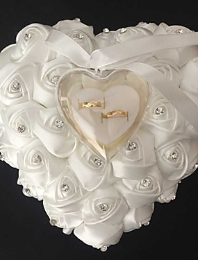 cheap Weddings & Events-Bowknot / Ribbons Satin Ring Pillow Beach Theme / Garden Theme / Floral Theme Spring / Summer / Fall