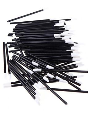 baratos Pincéis para Lábios-Profissional Pincéis de maquiagem Pincel para Lábios 50pçs Portátil Viagem Profissional sintético Hipoalergênico Plástico Pincéis de Maquiagem para Pincel para Lábios