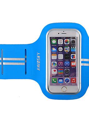 billige Sport og friluftsliv-HAISKY Armbånd Mobilveske til Sportsveske Berøringsskjerm Anvendelig Telefon / Iphone Joggebelte Terylene Unisex / iPhone X / iPhone XS Max / iPhone XS / iPhone XR / iPhone 8/7/6S/6