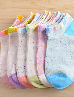 cheap Sports & Outdoors-Socks Women's Breathable Sweat-wicking Low-friction For Yoga Pilates Golf 6 Pairs Sports Spring Summer Fall Random Colors