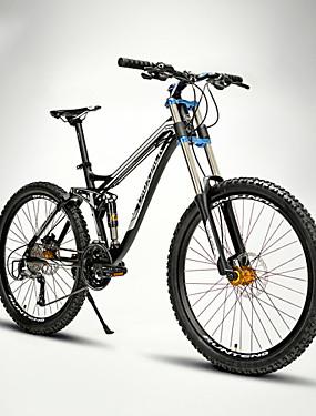 billige Sport og udendørs-Mountain Bikes Cykling 27 trin 26 tommer (ca. 66cm) / 700CC SHIMANO M370 Olieskivebremse Springerforgaffel Blød haleramme Normal Aluminiumlegering