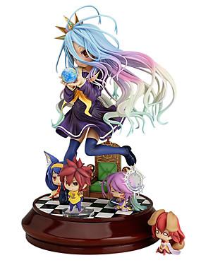 billige Leker og hobbyer-Anime Action Figurer Inspirert av Intet Spill Intet Liv Shiro PVC 20 cm CM Modell Leker Dukke