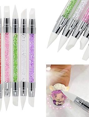 voordelige Nagelborstels-5 stuks Nagelborstels Voor Noviteit Nagel kunst Manicure pedicure Klassiek / leuke Style Dagelijks