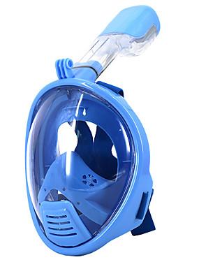 povoljno Sport és outdoor-Ronjenje Maske Maske za cijelo lice Jedan prozor - Plivanje Silikon - Za Djeca Plava / 180 stupnjeva / Bez curenja / Anti-Magla