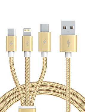 cheap Cables & Adapters-USB 2.0 Connect Cable, USB 2.0 to USB 2.0 Type C Micro USB 2.0 Lightning Connect Cable Male - Male 1.2m(4Ft)