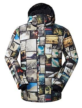 povoljno Sport és outdoor-GSOU SNOW Muškarci Skijaška jakna Vodootporno Vjetronepropusnost Toplo Skijanje Neljepljivo Polyester Silk Cloth Pernate jakne Skijaška odjeća / Zima