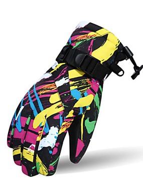 povoljno Sport és outdoor-Skijaške rukavice Par je Snježni sportovi Cijeli prst Zima Ugrijati Pamuk Skijanje Bicikl