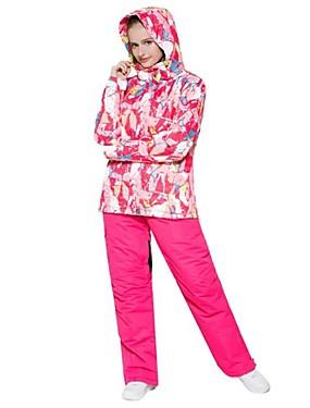 billige Sport og friluftsliv-Wild Snow Dame Skijakke Vindtett Varm Ventilasjon Ski & Snowboard Multisport Snøsport Polyester Klessett Skiklær / Vinter