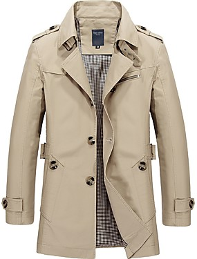 1b99aab835c79 Men s Daily Vintage Fall   Winter Long Trench Coat
