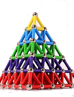 povoljno Igračke i hobiji-84 pcs 5mm Magnetne igračke Magnetski blok Magnetski štapići Magnetske pločice Kocke za slaganje Poučna igračka plastika Magnet S magnetom Pyramid Dječji / Odrasli Uniseks Dječaci Djevojčice Igračke