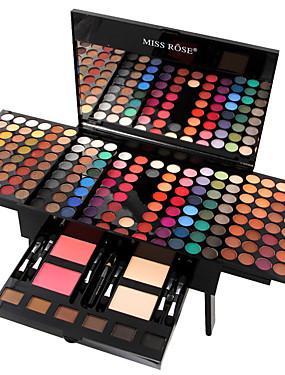 halpa Silmät-MISS ROSE 180 väriä Luomivärit / Eyeshadow Kit / Puuterit Punastua / korostekynä / Bronzer Muoti Pitkäkestoinen Arkipäivän meikki Meikki kosmeettinen