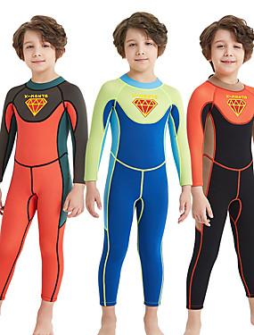 povoljno Sport és outdoor-Dječaci Dugo mokro odijelo 2mm SCR Neopren Ronilačka odijela UV otporan Quick dry Visoka elastičnost Dugih rukava Povratak Zipper Kolaž / Rastezljivo