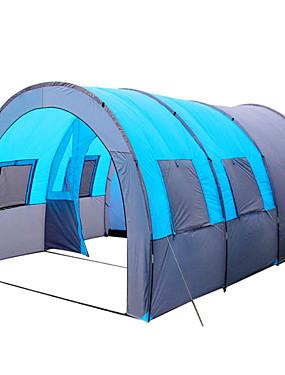 ieftine Sport i aktivnosti na otvorenom-8 persoane Σκηνή τούνελ Cort de camping familial În aer liber Ușor Rezistent la Vânt Respirabilitate Cu un singur strat Stâlp Tunel Cort de campare 1000-1500 mm pentru Pescuit Camping / Cățărare