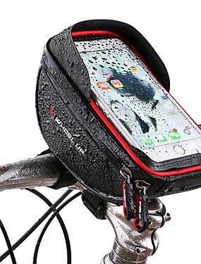 billige Sport og friluftsliv-Wheel up Mobilveske Vesker til sykkelstyre 6 tommers Berøringsskjerm Reflekterende Sykling til Sykling iPhone X iPhone XR Rød Svart Fjellsykkel Vei Sykkel / iPhone XS / iPhone XS Max