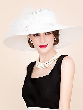 povoljno Vjenčanja i eventi-Organza Kentucky Derby Hat / kape s Cvjetni print 1pc Special Occasion / Zabava / večer Glava