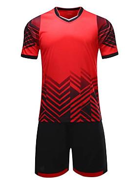 abordables Sports d'Equipe-Homme Football Shirt Respirable Evacuation de l'humidité Football Géométrique Mélange polyester / coton Adultes Vert Bleu Rose