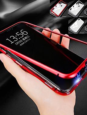 abordables Téléphones et accessoires-Coque Pour Apple iPhone XR / iPhone XS Max Antichoc / Magnétique Coque Intégrale Couleur Pleine Dur Métal pour iPhone XS / iPhone XR / iPhone XS Max