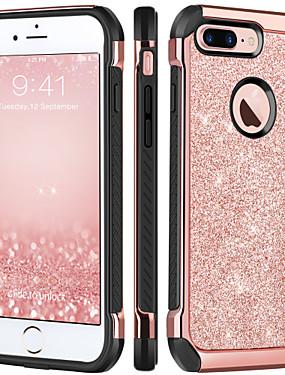 povoljno Bentoben-BENTOBEN Θήκη Za Apple iPhone 8 Plus / iPhone 7 Plus Otporno na trešnju / Pozlata / Šljokice Stražnja maska Šljokice Tvrdo TPU / PC za iPhone 8 Plus / iPhone 7 Plus