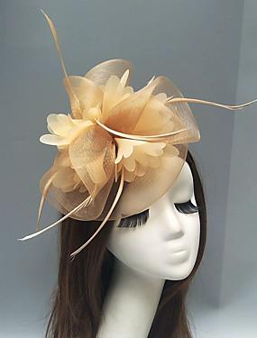 povoljno Vjenčanja i eventi-Perje / Net Fascinators / Headpiece s Perje / Cvjetni print / Cvijet 1pc Vjenčanje / Special Occasion Glava