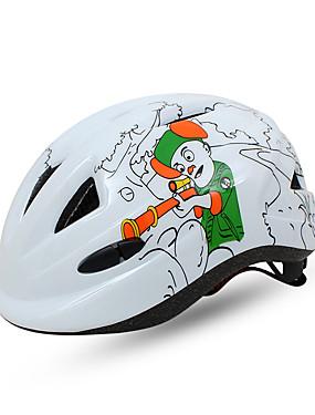 저렴한 스포츠 & 아웃도어-BAT FOX 아동용 자전거 헬멧 10 통풍구 CE 충격 방지 일체식-몰디드 벨루어 EPS PC 스포츠 도로 자전거 산악 자전거 야외운동 - 화이트 퓨샤 레드 남아 여아