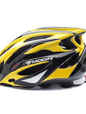 povoljno Sport és outdoor-MOON Odrasli Bike kaciga 25 Ventilacijski otvori Otporan na udarce Integralno oblikovana Prozračnost EPS PC Sportski Mountain Bike biciklom na cesti Biciklizam / Bicikl - Yellow / Black Muškarci Žene