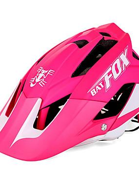 povoljno Sport és outdoor-BAT FOX Odrasli Bike kaciga 7 Ventilacijski otvori CE Otporan na udarce Integralno oblikovana Prozračnost EPS PC Sportski Cestovni bicikl Mountain Bike Vježbanje na otvorenom - Zelen Plava Red / White