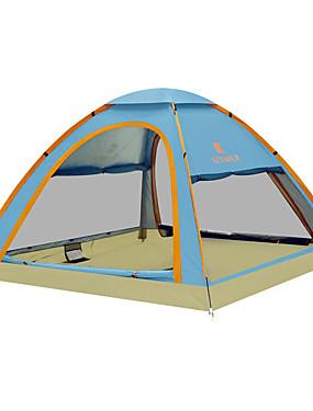 رخيصةأون رياضة والخارجية-KEUMER 4 شخص خيمة التخييم العائلية في الهواء الطلق ضد الهواء مكتشف الأمطار يمكن ارتداؤها طبقة واحدة أوتوماتيكي خيمة التخييم 1500-2000 mm إلى Camping / Hiking / Caving تنزه كربون فيبر قماش اكسفورد