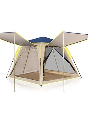 رخيصةأون رياضة والخارجية-KEUMER 4 شخص خيمة التخييم العائلية في الهواء الطلق ضد الهواء مكتشف الأمطار يمكن ارتداؤها طبقة واحدة قطب الماسورة خيمة التخييم 1500-2000 mm إلى Camping / Hiking / Caving تنزه