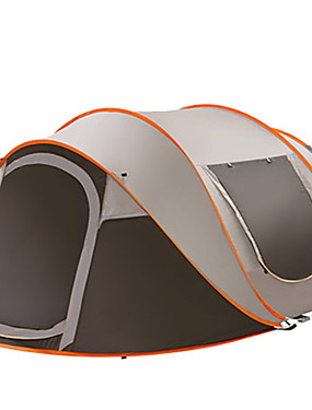 cheap Sports & Outdoors-6 person Backpacking Tent Outdoor Lightweight Single Layered Automatic Dome Camping Tent 1500-2000 mm for Camping / Hiking / Caving Traveling Oxford Cloth 283*213*125 cm