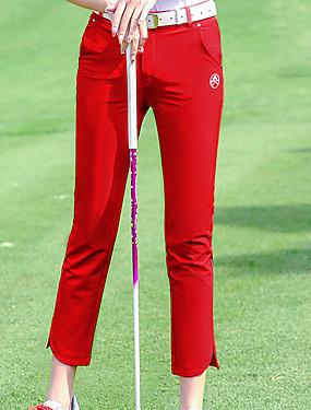 abordables Sports de Raquette-Femme 1pc Pantalons / Surpantalons Golf Course / Running Faire des exercices Athleisure De plein air Automne Hiver / Coton / Elastique / Respirable / Couleur unie