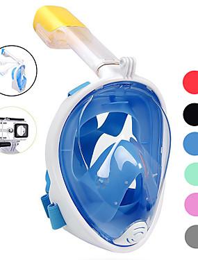 povoljno Sport és outdoor-Ronjenje Maske Maske za cijelo lice Jedan prozor - Plivanje Silikon - Za Odrasli Plava / 180 stupnjeva / Bez curenja / Anti-Magla