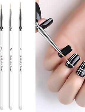 voordelige Ander Gereedschap-3 stks nagelborstel staaf pull pen geschilderd pen kolom gel tekening schilderen acryl nagel pen voor manicure tool kit